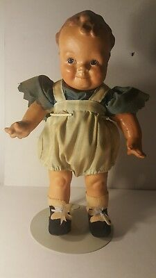 Vintage Composition Character Doll Great Condition Hand Painted Googly Eyes