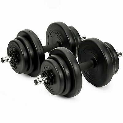 Dumbbells Set 16Kg Free Weights Plates Bicep Gym Fitness Exercise Vinyl Dumbbell