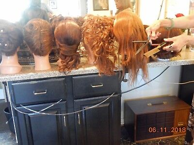 Mannequin heads with real hair for hair styling classes or schools