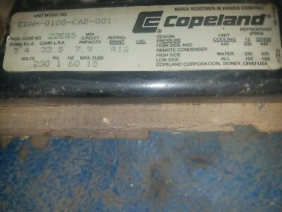 Copeland Refrigeration Compressor EBAH-0100-CAB-001  New Old Stock