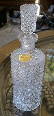 Crystal Decanter with stopper made in Italy DEKRA no chips no cracks measures 10