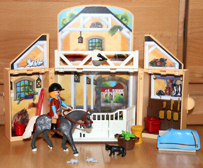Playmobil 5418 ★ Aufklapp-Spielbox Reitstall ★ Pferde Country TOP