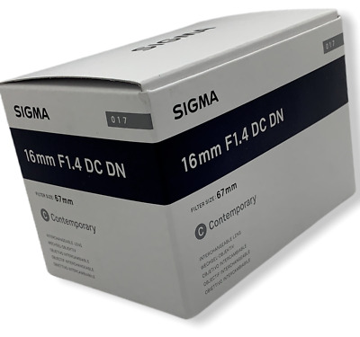 New SIGMA Contemporary 16mm F1.4 DC DN Lens for SONY E Mount APS-C Format