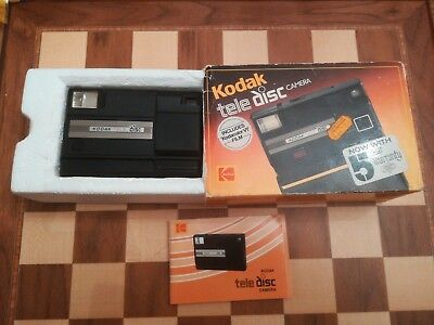 Boxed VINTAGE KODAK TELE DISC CAMERA Circa 1985 UNTESTED in original box