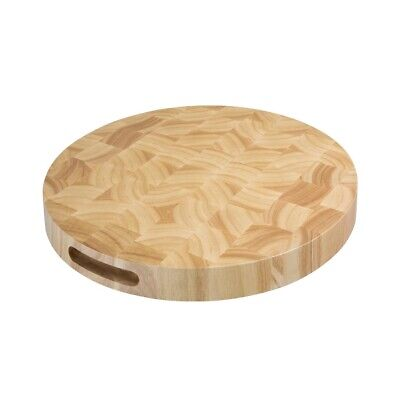Vogue Round Wooden Chopping Board (Next working day UK Delivery)