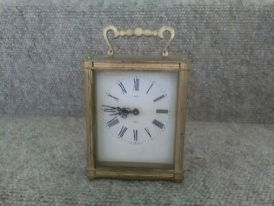 Vintage Smiths 8 Day Floating Balance Carriage Clock. Working order. Pre-Owned.