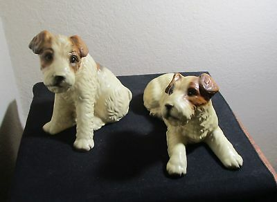 Vintage Wire Fox Terriers Set of 2 Figurines