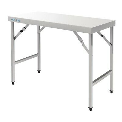 Vogue Stainless Steel Folding Table 1200mm (Next working day UK Delivery)