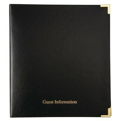Black Guest Information Folder (Next working day UK Delivery)