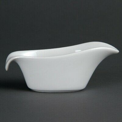 Olympia Whiteware Gravy Boats 85ml 3oz (Pack of 6) (Next working day to UK)