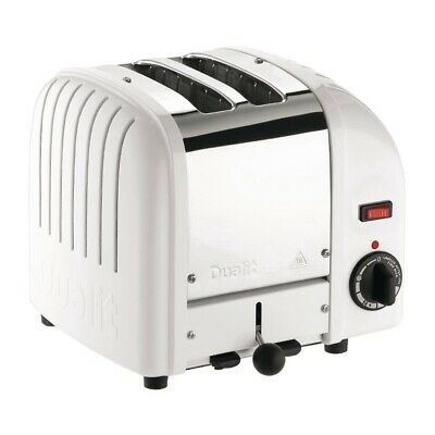 Dualit 2 Slice Vario Toaster White 20248 (Next working day UK Delivery)