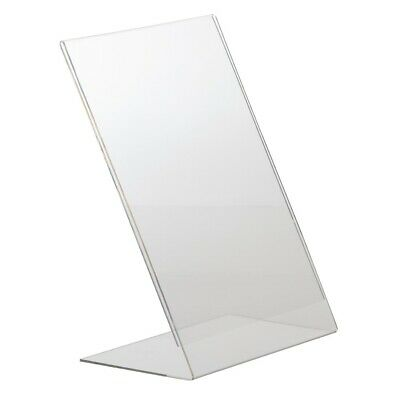 Slanted Acrylic Menu Holder A4 (Next working day UK Delivery)
