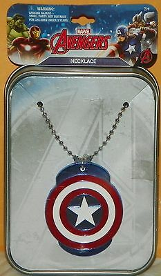 """""""NEW"""" The Avengers ~ CAPTAIN AMERICA ~ DOGTAG Dog Tag NECKLACE & Collector Tin"""