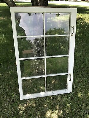 Vintage SASH ANTIQUE WOOD WINDOW  FRAME Barn WEDDING 8 PANE GLASS