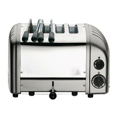 Dualit 2 x 2 Combi Vario 4 Slice Toaster Silver 42171 (Next working day to UK)