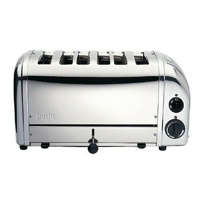 Dualit Bun Toaster 6 Bun Metallic Silver 61028 (Next working day UK Delivery)
