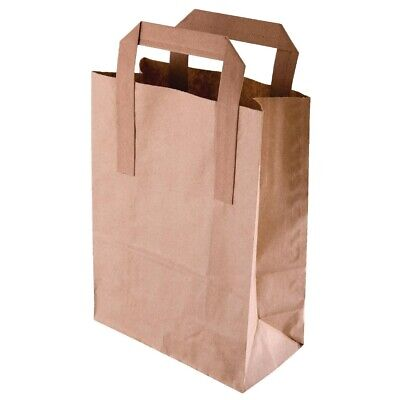 Recyclable Brown Paper Bags Large (Pack of 250) (Next working day UK Delivery)