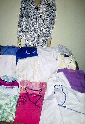 19 Piece LOT Womens Size Small Medical Uniform Pants Skirt Colorful Scrub Tops
