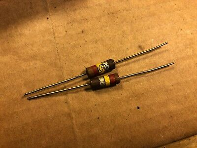 2 NOS IRC 4.7 meg ohm 1 watt 1W Carbon Comp Resistors TESTED 5.3 meg 1950s Qty