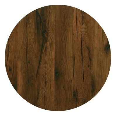 Werzalit Pre-drilled Round Table Top  Antique Oak 800mm (Next working day to UK)