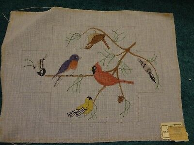 Vintage - Village Needlecraft - BRICK COVER -  Birds