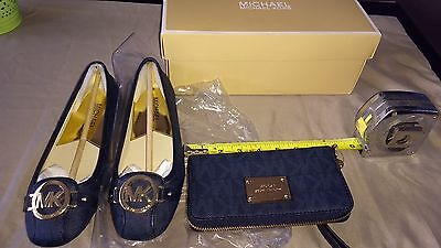 Michael kors woman's matching wallet and shoes size 5.5 in Baltic blue