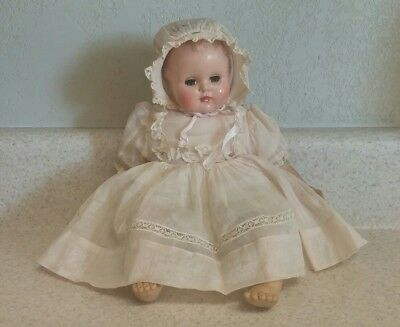"Vintage Madame Alexander LITTLE GENIUS BABY DOLL Cloth HP & Vinyl 11"" TLC"