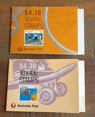 1989 &1990 Sports Series Booklet Stamps In Covers - 4 & 1 Koala Reprints