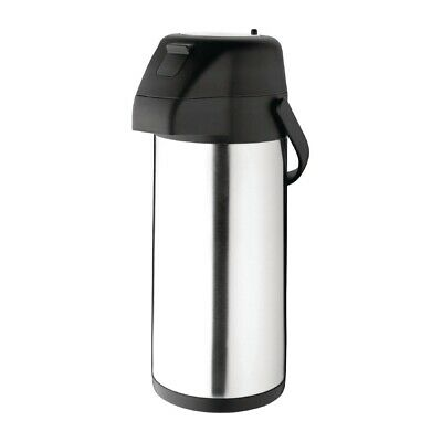 Olympia Stainless Steel Topped Pump Action Airpot 3Ltr (Next working day to UK)