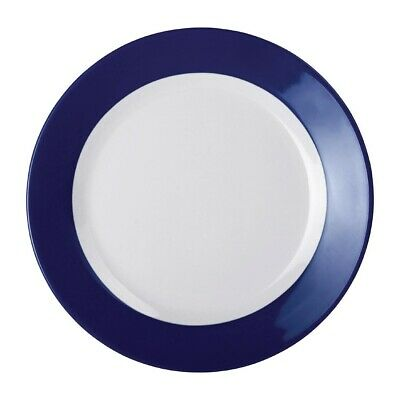 Kristallon Gala Colour Rim Melamine Plate Blue 195mm (Pack of 6)