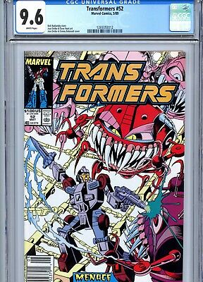 Transformers #52 CGC 9.6 White Pages Marvel Comics 1989