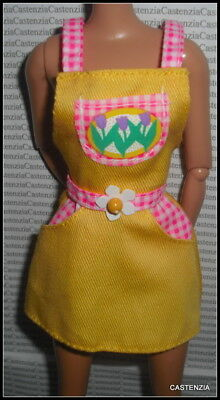 TOP BARBIE DOLL EASTER EGG PARTY PINK BUNNY PRINT COCKTAIL DRESS ACCESSORY