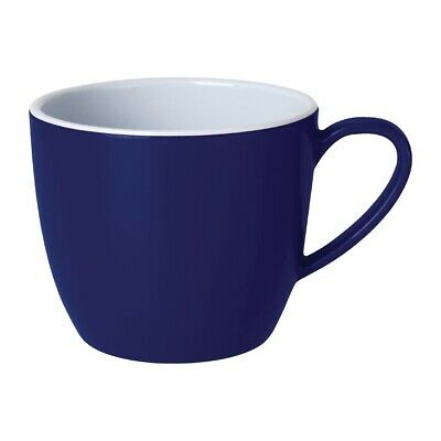 Kristallon Gala Colour Rim Melamine Mug Blue 285ml (Pack of 6)