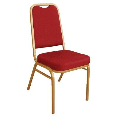 Bolero Squared Back Banquet Chair Red (pack of 4) (Next working day to UK)