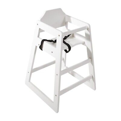 Bolero Wooden High Chair Antique White Finish (Next working day UK Delivery)