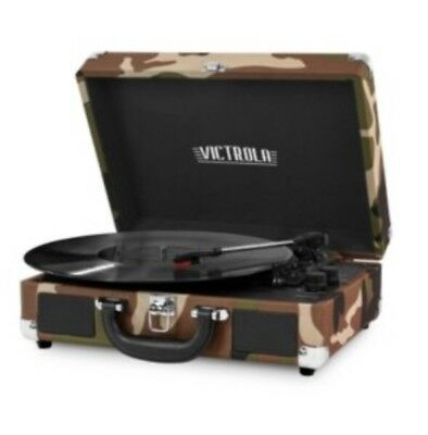 Portable Victrola Suitcase Record Player Bluetooth 3 Speed Turntable Your Color