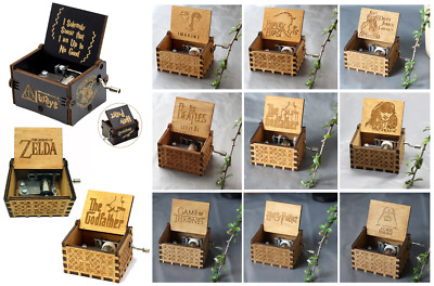 Music Box Carillon Harry Potter Game Thrones Pirates Wars Godfather Beauty Zelda