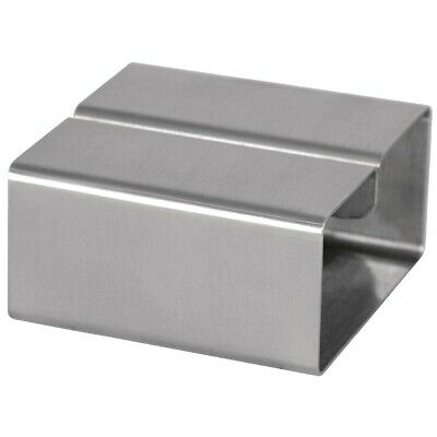 Stainless Steel Square Menu Holder (Next working day UK Delivery)