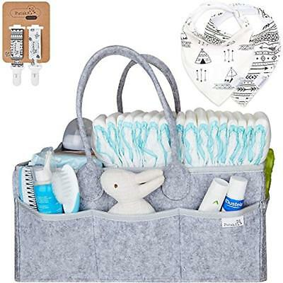 Diaper Caddy Organizer: Portable Wipes Holder Bag Changing Table Car, Nursery 2