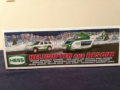 HESS 2012 HELICOPTER AND RESCUE NEW, Original Box-Never Opened except for photos