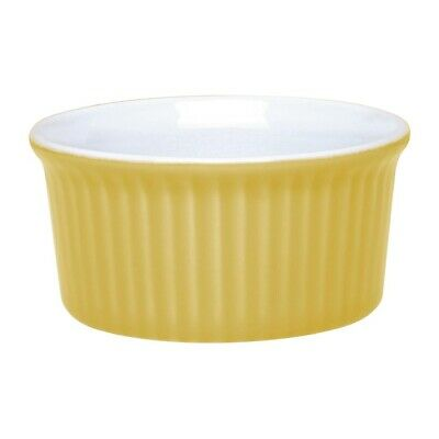Olympia Pastel Ramekin Yellow 145ml (Pack of 12) (Next working day UK Delivery)