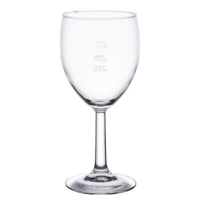 Arcoroc Savoie Grand Vin Wine Glasses 350ml CE Marked at 125ml 175ml and 250ml (
