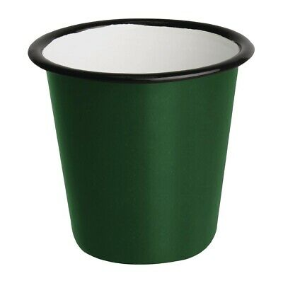 Olympia Enamel Sauce Cup Green And Black (Pack of 6) (Next working day to UK)