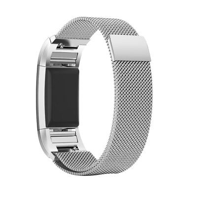 Milanese Magnetic Loop Band Strap For FitBit Charge 2 Metal Small Size Durable