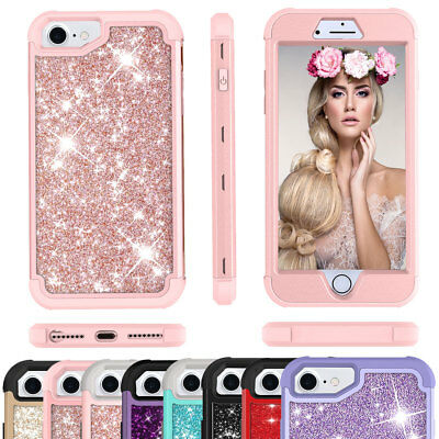 Fashion Girly Bling Glitter Protective Hard Phone Case Cute For iPhone 6 6s Plus