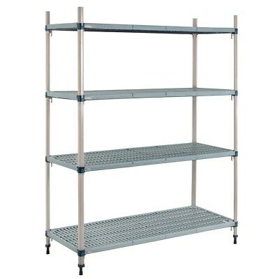 Metro Max Q Polymer Posts Shelving Kit 4 Shelves 1590x910x460mm