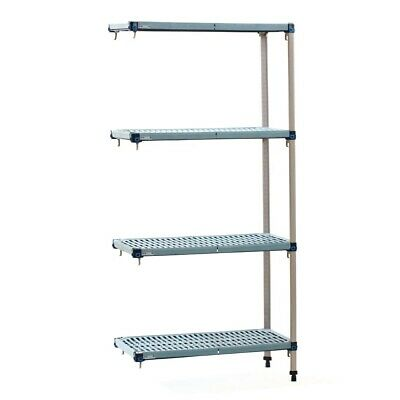 Metro Max Q Polymer Posts Shelving L-Shape Add-On Kit 4 Shelves 1590x910x460mm