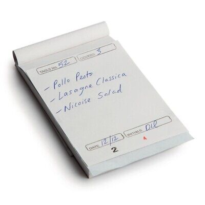Restaurant Waiter Pads Duplicate Large (Pack of 50) (Next working day to UK)