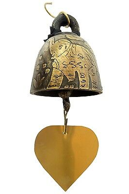 Bronze Temple Bell Wind Chime, Thailand Pattern Decor for Home And Garden.