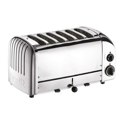 Dualit 6 Slice Vario Toaster Stainless Steel 60144 (Next working day to UK)